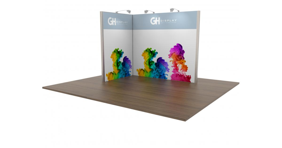 Exhibition Stand : Modular exhibition stand open two sides modular