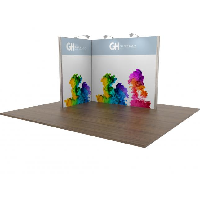 3x2 Modular Exhibition Stand Open Two Sides