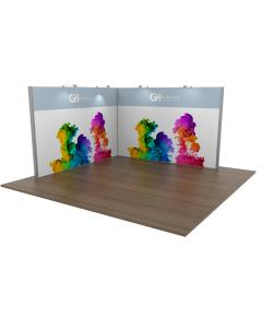 4x4 Modular Exhibition Stand Open Two Sides