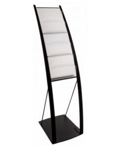Curved Black Literature Stand