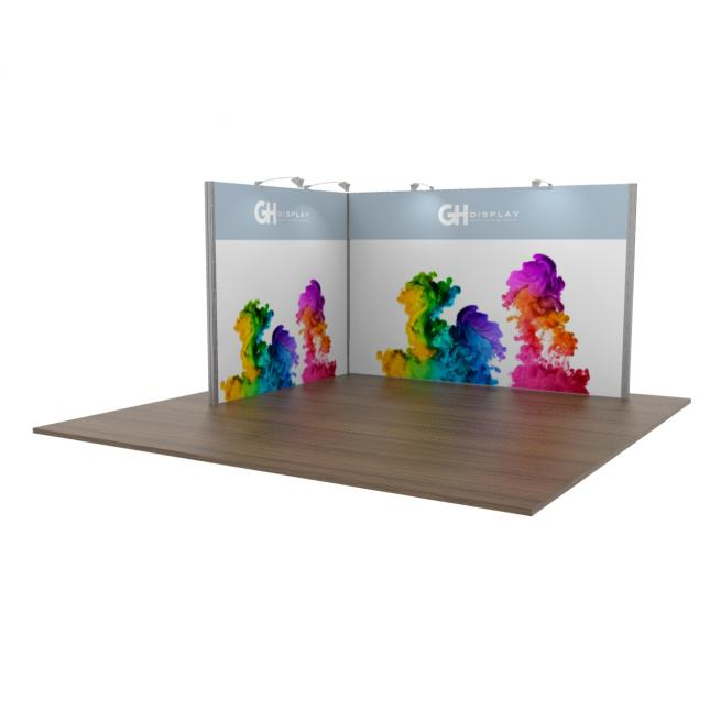 3x4 Modular Exhibition Stand Two Open Sides