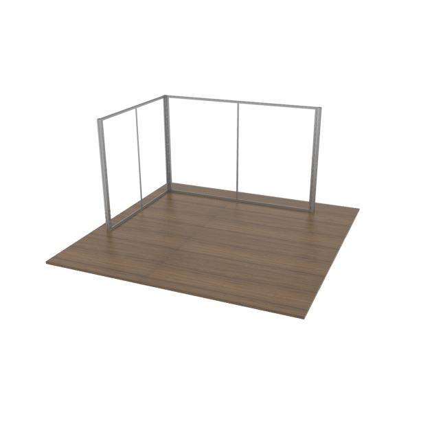3x4 Modular Exhibition Stand Two Open Sides Framework