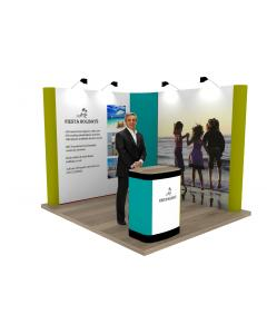 2m x 2m L Shaped Pop Up Exhibition Stand