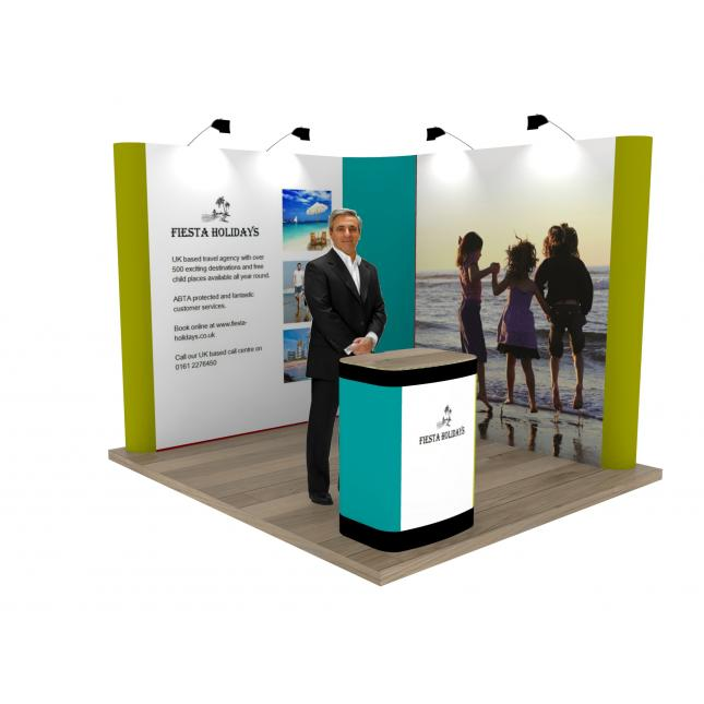 Corner Exhibition Stands Day : L shaped pop up exhibition stand modular