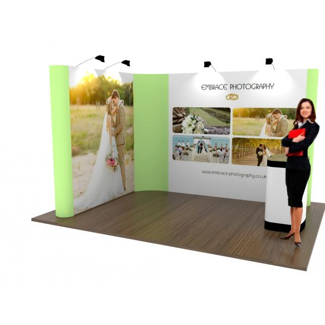 Sungard Exhibition Stand Here Alone : £ l shaped pop up exhibition stand modular
