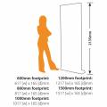 Sidewinder Roller Banner Size Diagram