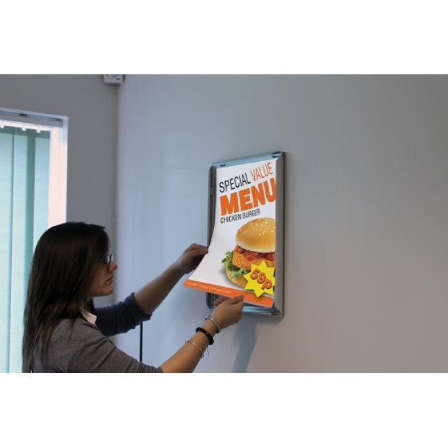 Snap Frame Poster Display in situ replace poster