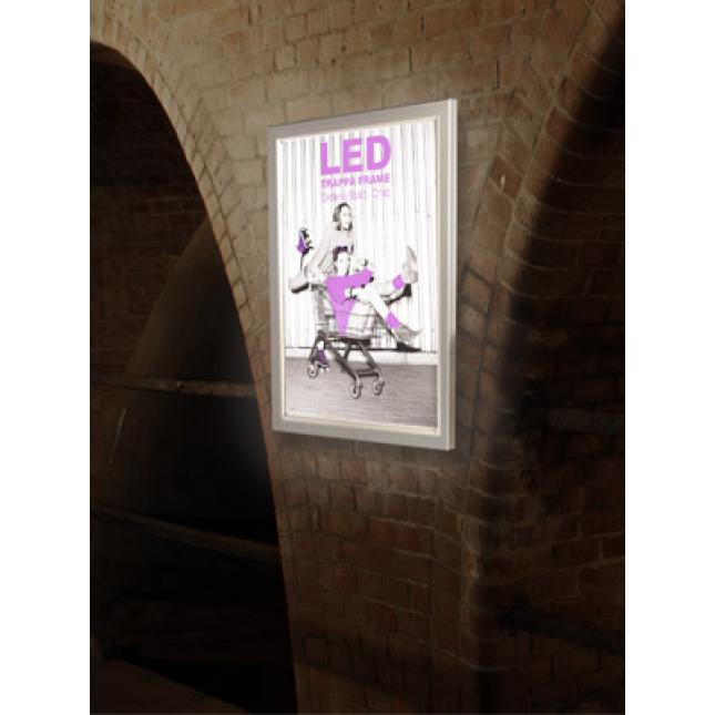 LED Snap Frame Poster Display in situ