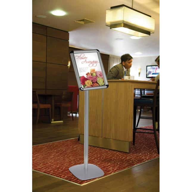Free Standing Poster Display Stand in restaurant