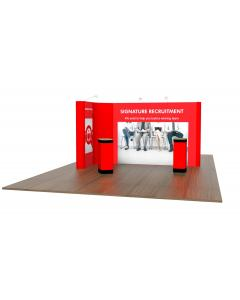 2m x 4m L Shaped Pop Up Exhibition Stand