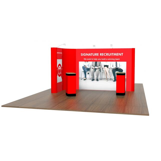 2m x 4m linked pop up exhibition stand images