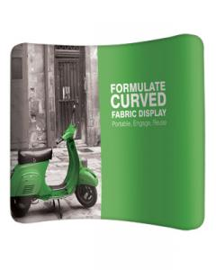Formulate Curve Fabric Exhibition Stand 3m