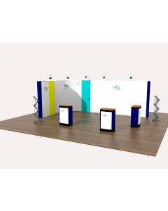 3m x 6m L Shaped Pop Up Exhibition Stand