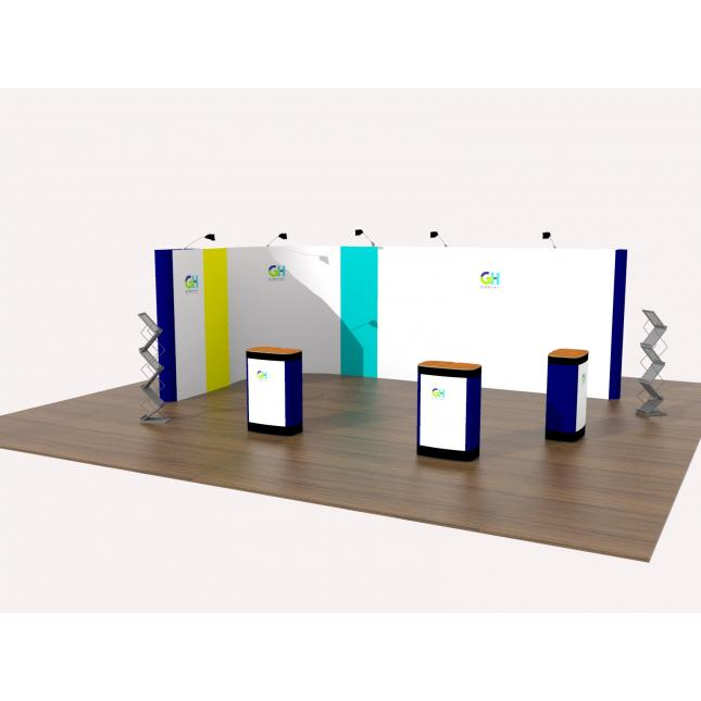 3x6 linked pop up display stand
