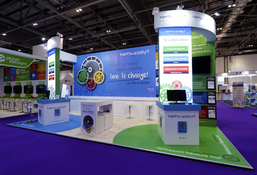 NetSupport Custom Exhibition Stand for Bett Show