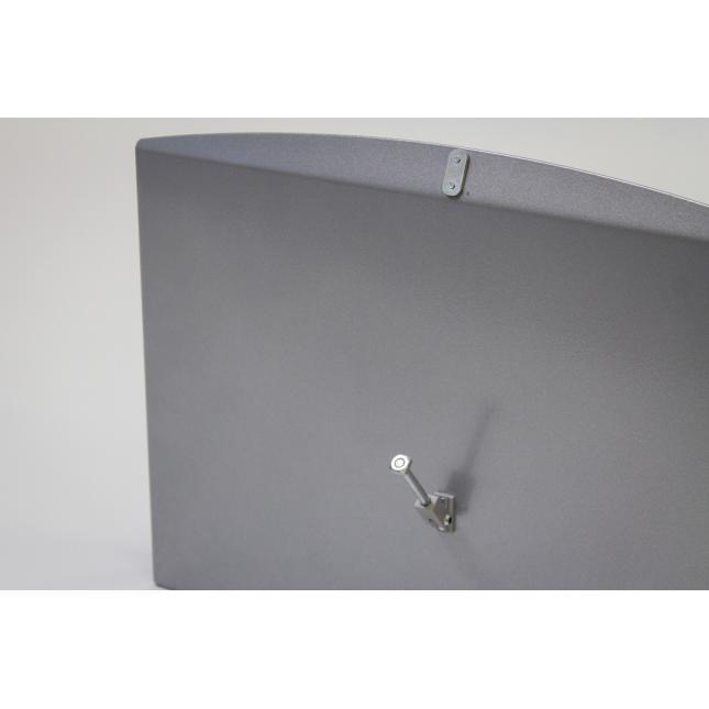 Steel brochure shelf attachment