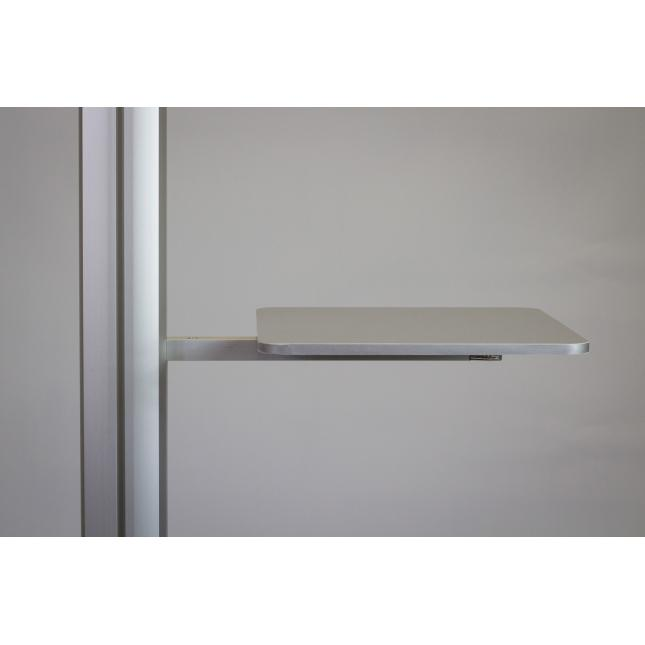 Grey shelf for point of sale display