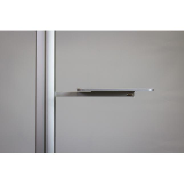 Grey shelf attachment for point of sale display