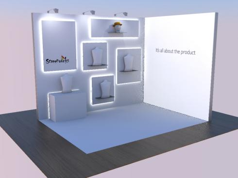 Screemworks custom exhibition stand
