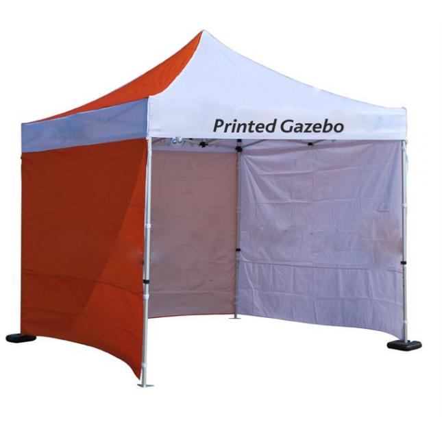 Printed Gazebo with Sides and Back Wall