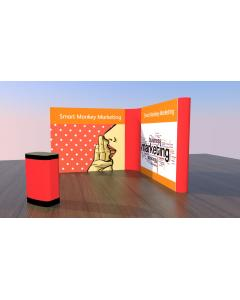 3 x 3 L Shaped Pop Up Exhibition Stand