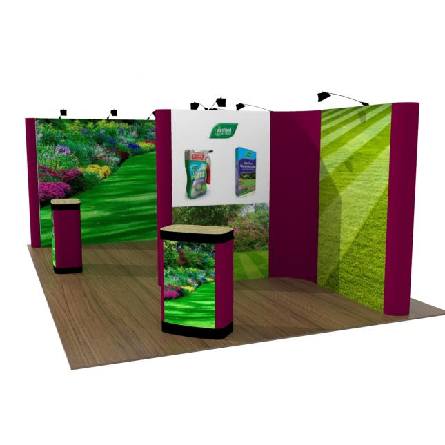 4M X 6M Pop Up Exhibition Stand end view