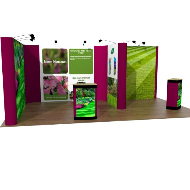 4M X 6M Pop Up Exhibition Stand front view