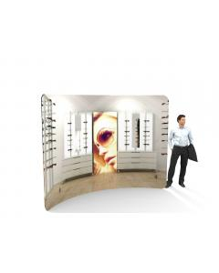 3m Curved Fabric Display Stand