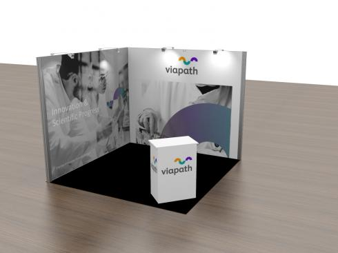 Viapath Exhibition as a 3m x 3m configuration