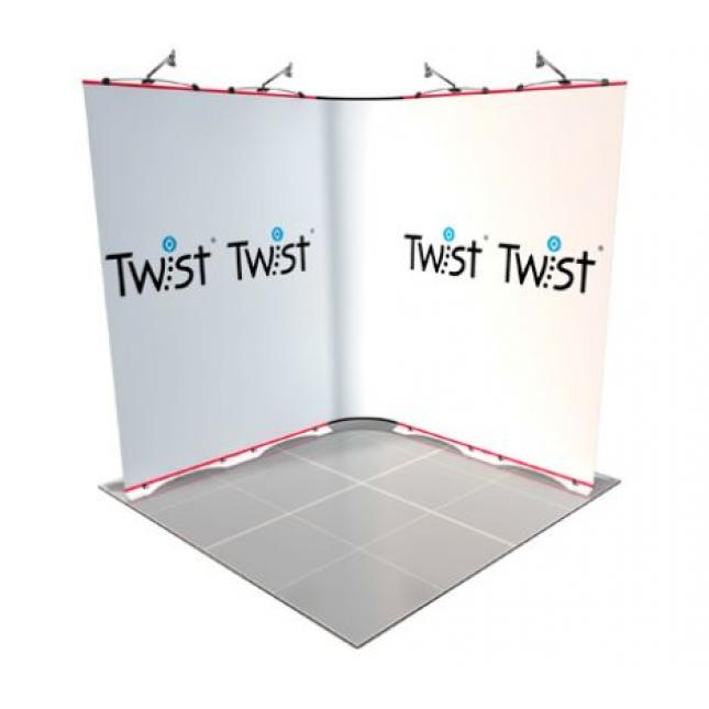 Twist 2m x 2m exhibition stand