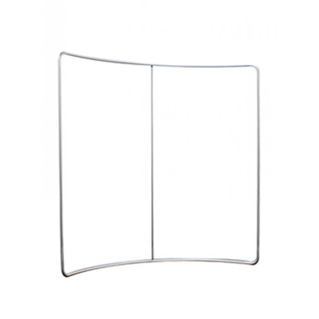 2.4m curved fabric display stand frame