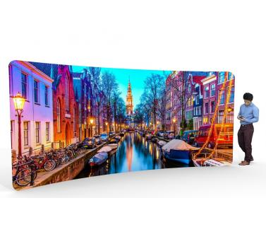 Curved Fabric Displays