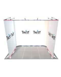 3m x 2m U Shaped Twist Exhibition Display