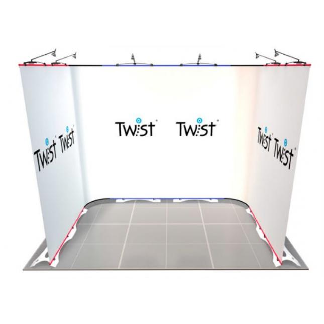 3m x 2m U shaped Twist Exhibition Stand