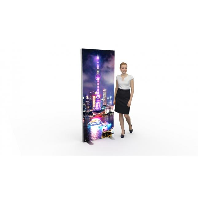 800mm x 2000mm x 80mm Lightbox display stand