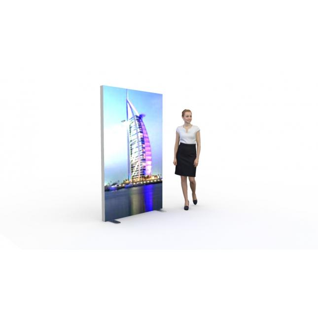 1200mm x 2000mm x 80mm lighbox display stand
