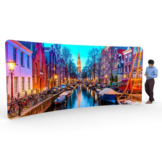 Fabric Exhibition Stand Goal : M curved fabric display stand custom exhibition stands