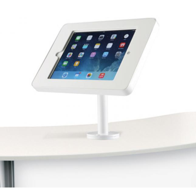 ipad holder counter mounted white