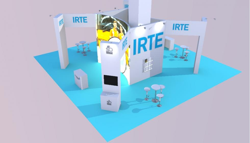 custom exhibition stand IRTE