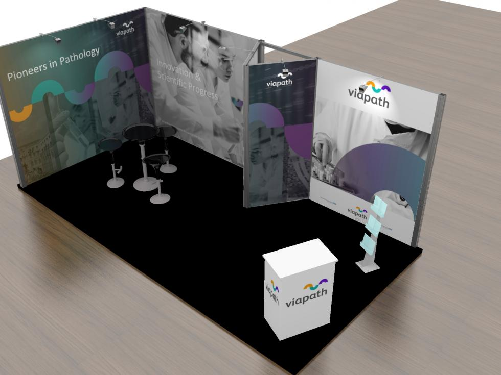 Viapath modular exhibition stand