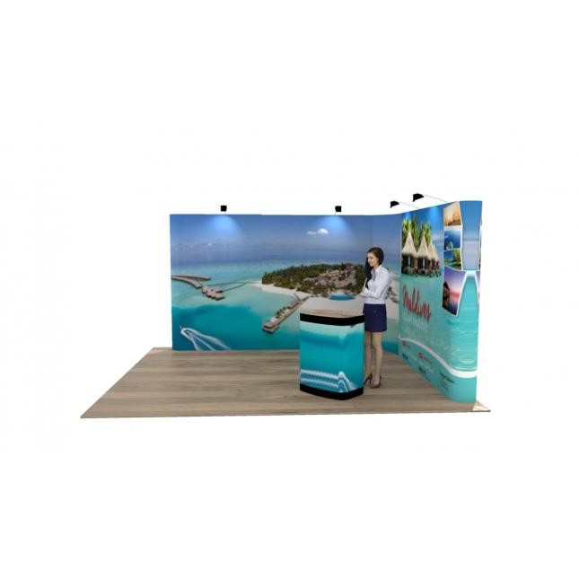 4 x 3 l shaped pop up exhibition stand 2