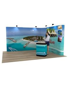 4 x 3 L Shaped Pop Up Exhibition Stand
