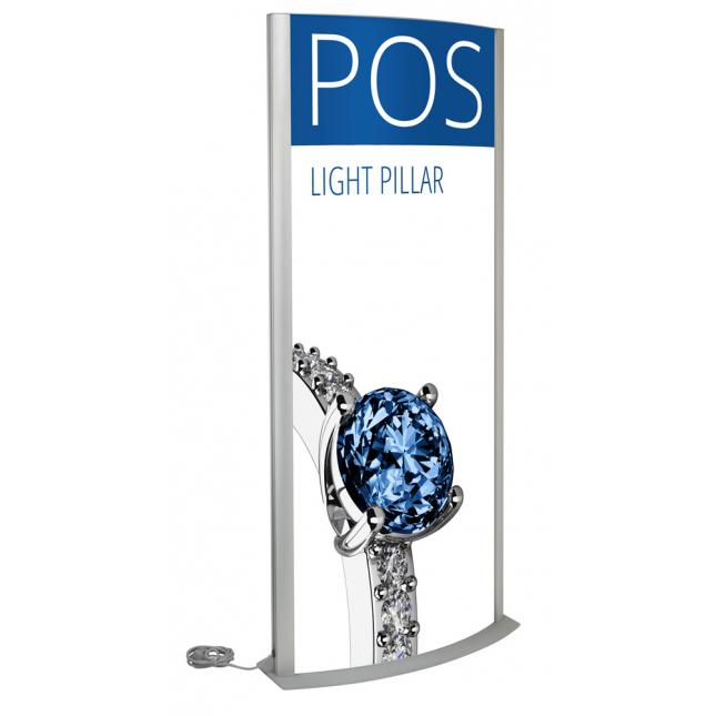 Curved lightbox pillar
