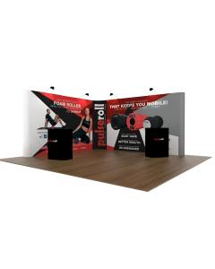 4 x 4 L Shaped Pop Up Exhibition Stand