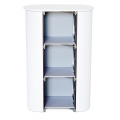 1x3 Mini Pop Up Counter White Shelves