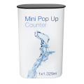 1x3 Mini Pop Up Counter black