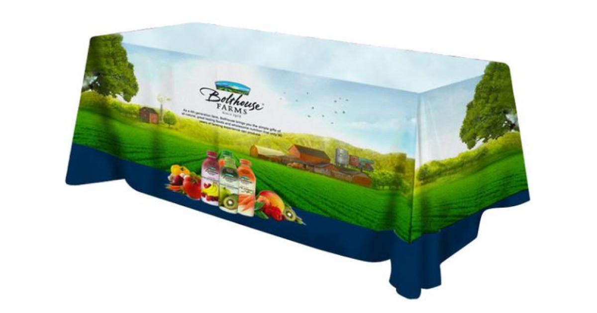 Exhibition Stand Tablecloths : Printed tablecloths branded tablecloths gh display
