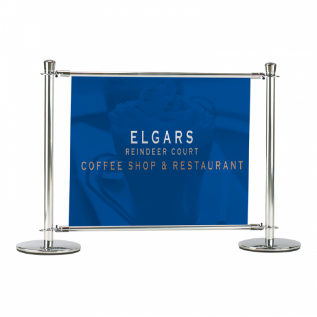 1000mm premium slide cafe barrier