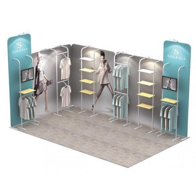 Stretch fabric modular stands