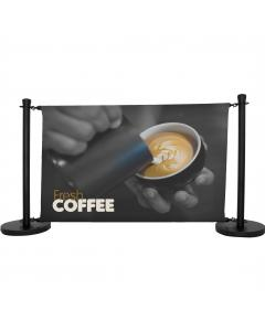 Economy Black Cafe Barrier Kit 1